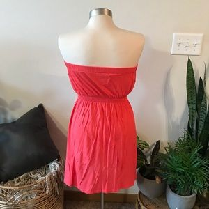 GAP Dresses - Coral strapless zipper dress